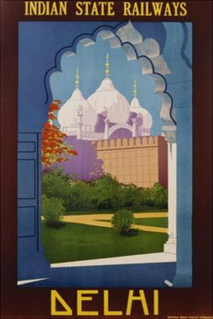 Visit India - Indian State Railways, Delhi Poster