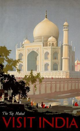 Visit India, the Taj Mahal, circa 1930