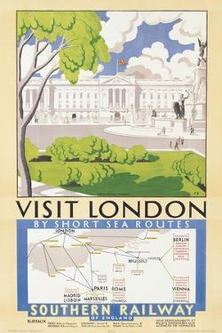 'Visit London', Poster Advertising Southern Railway, 1929