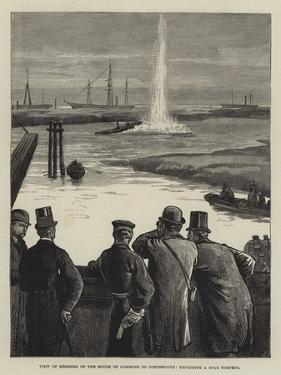 Visit of Members of the House of Commons to Portsmouth, Exploding a Spar Torpedo