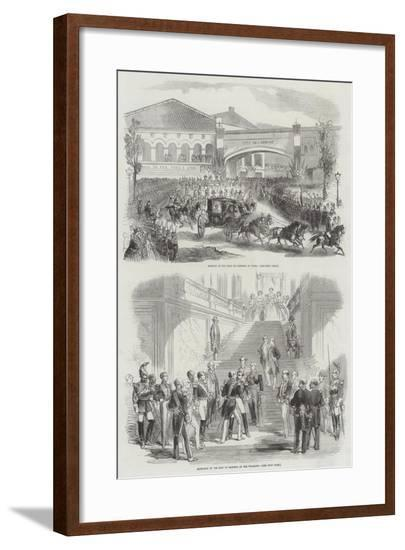 Visit of the King of Sardinia to France--Framed Giclee Print