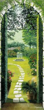 Vista dal Porticato Garden Doorway Door Poster