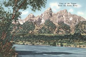 Vista of the Tetons from Snake River