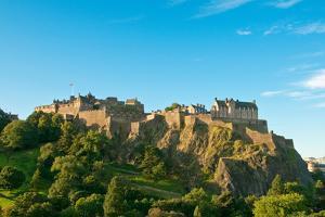 Edinburgh Castle on a Clear Sunny Day, Scotland, UK by vitalytitov