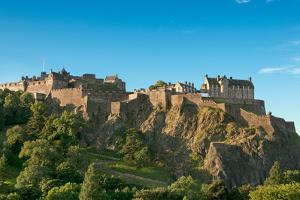 Edinburgh Castle (Uk) on a Clear Sunny Day by vitalytitov