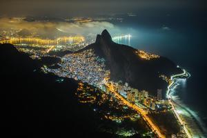 Night View from the Top of Pedra Da Gavea Mountain in Tijuca Forest National Park, Rio De Janeiro, by Vitor Marigo