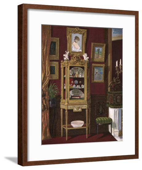 Vitrine Display Cabinet--Framed Giclee Print