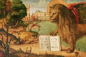 Detail of the Lion of St. Mark, 1516 by Vittore Carpaccio