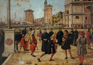 Legend of St. Ursula. The Return of the Ambassadors by Vittore Carpaccio