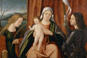 Madonna and Child with Saints Catherine of Alexandria and Either George or Liberale by Vittore Carpaccio
