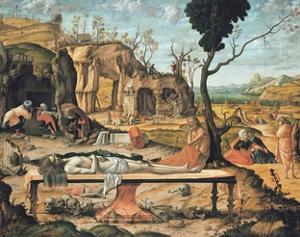 Preparation of Christ's Tomb by Vittore Carpaccio by Vittore Carpaccio