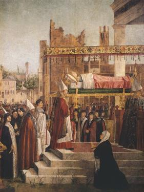 Stories of St. Ursula, Martyrdom of Pilgrims and Funeral of St. Ursula, 1493 by Vittore Carpaccio