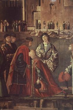 Stories of St Ursula, Meeting of Etherius and Ursula and Departure of Pilgrims by Vittore Carpaccio