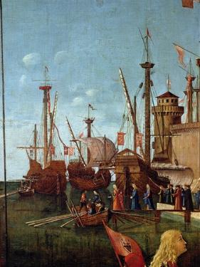The Departure of the Pilgrims, Detail from the Meeting of Etherius and Ursula and the Departure… by Vittore Carpaccio