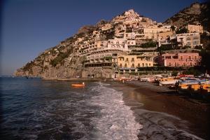Beach in Positano, Italy by Vittoriano Rastelli