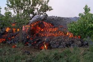 Cooling Lava from Mount Etna by Vittoriano Rastelli