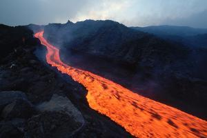 Lava Flow from Mount Etna by Vittoriano Rastelli