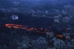 Lava Flow in Village by Vittoriano Rastelli