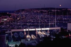 Marina of Porto Cervo at Night by Vittoriano Rastelli