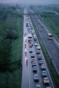 Traffic on Italian Highway by Vittoriano Rastelli