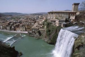 Waterfall on Italian River by Vittoriano Rastelli