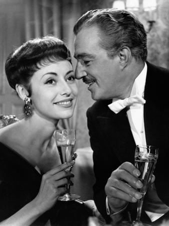 Vittorio De Sica and Caterina Valente in Casino De Paris