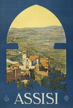 Assisi, c.1920 by Vittorio Grassi