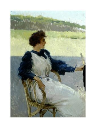 Portrait of Lady Outdoors