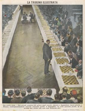 Playing Fifty Games of Chess Simultaneously by Vittorio Pisani