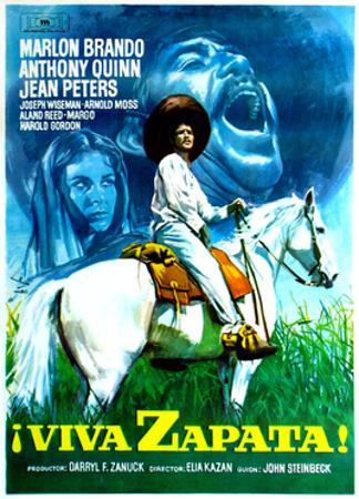 Viva Zapata!, Jean Peters, Marlon Brando, Anthony Quinn, (Spanish Poster Art), 1952