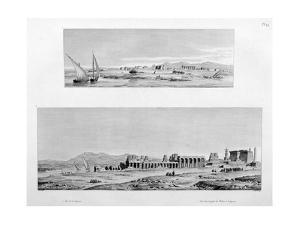 View of Luxor, and the Temple of Thebes at Luxor, Egypt, C1808 by Vivant Denon