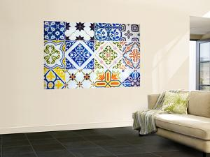 Detail of Antique Portuguese Tiles by Viviane Ponti