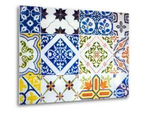 Detail of Antique Portuguese Tiles by Viviane Ponti
