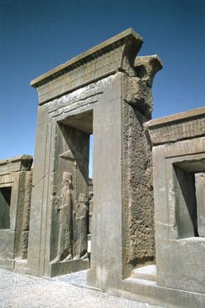 Doorway of the Palace of Darius, Persepolis, Iran by Vivienne Sharp