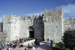 Flea Market at the Damascus Gate, Jerusalem, Israel by Vivienne Sharp