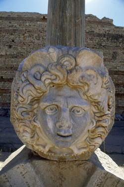 Head of Medusa in the Severan Forum of the Ancient Roman City of Leptis Magna, Libya by Vivienne Sharp