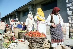 Market on the shores of Lake Ohrid, Macedonia by Vivienne Sharp