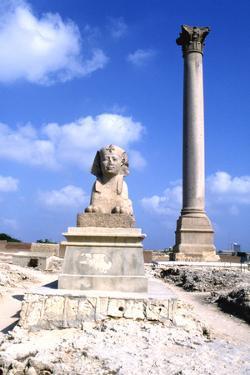 Pompeys Pillar, Alexandria, Egypt by Vivienne Sharp