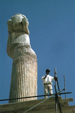 Protome of half horse, the Apadana, Persepolis, Iran by Vivienne Sharp