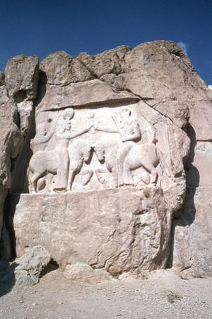 Relief of the Investiture of Ardashir I, Naqsh-I-Rustam, Iran by Vivienne Sharp