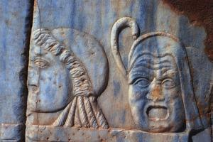 Roman Comic Masks, Sabratha, Libya, C161-C192 Ad by Vivienne Sharp