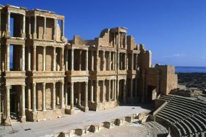 Roman Theatre, Sabratha, Libya, C161-192 Ad by Vivienne Sharp