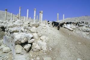 Ruins of the Ancient City of Pella, Jordan by Vivienne Sharp