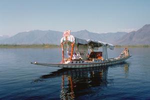 Shikara (Traditional Wooden Boat) on Dal Lake, Srinagar, Kashmir, India by Vivienne Sharp