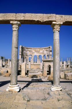 The Market, Leptis Magna, Libya, C3rd Century Ad. Pillars in the Ancient Roman City by Vivienne Sharp