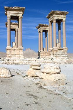 The Tetrapylon, Palmyra, Syria by Vivienne Sharp