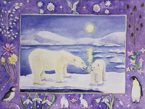 Polar Bear (Month of January from a Calendar) by Vivika Alexander