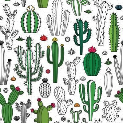 Vector Cactus Seamless Pattern by Vlad Klok