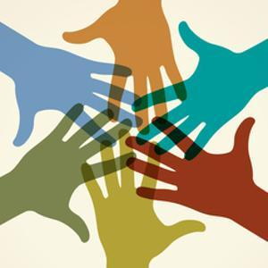 Colorful Raised Hands. the Concept of Diversity. Group of Hands. Giving Concept. this Work - Eps10 by VLADGRIN