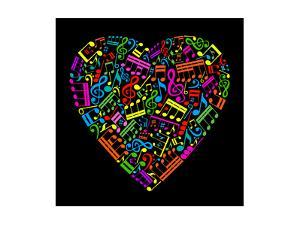 Heart Collected from Musical Notes by VLADGRIN
